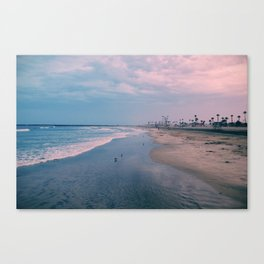 Rainy Day at the Beach Canvas Print