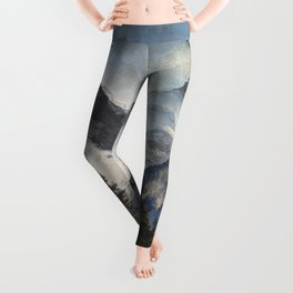 The Three Sisters - Canadian Rocky Mountains Leggings