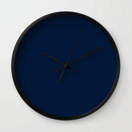 dark navy blue solid coordinate Wall Clock