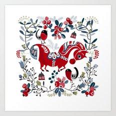 Dala Horse Art Print