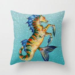 Hippocamppus Throw Pillow