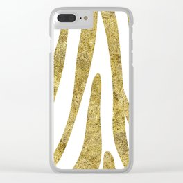 Golden exotics - Zebra and crisp white Clear iPhone Case