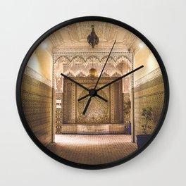 Marrakech Artisan Palace Wall Clock