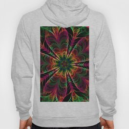 fractals abstact flowers  3d art floral patterns neon art abstract floral backgrounds creative fract Hoody