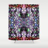 spiritual Shower Curtains featuring Spiritual Travel by Phinilez