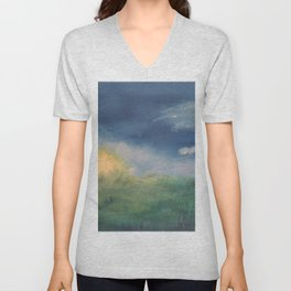SunnySide Up - Abstract Nature Unisex V-Neck