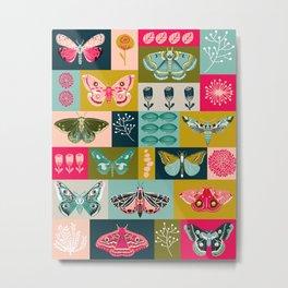 Lepidoptery tiles by Andrea Lauren  Metal Print