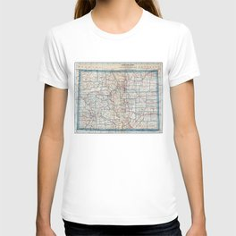 Vintage Map of Colorado (1921) T-shirt
