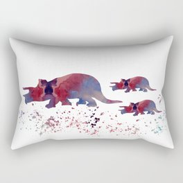 Triceratops (and triceratops babies) Rectangular Pillow