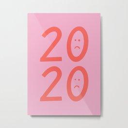 2020 Unhappy Emoji Year Metal Print