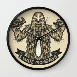 Chewie I Hate Mondays Wall Clock