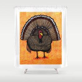 Tough Turkey Shower Curtain