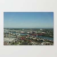 portlandia Canvas Prints featuring Portlandia by Kailin Ellett