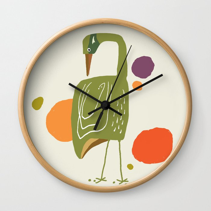 Quirky Brolga Wall Clock