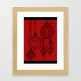 Ornaments in Red Collection (design 1) Framed Art Print