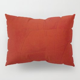 Italian Style Red Stucco Pillow Sham