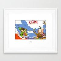 klaine Framed Art Prints featuring The Legend of Klaine by Inspired Engine