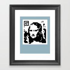 QR- Monalisa Framed Art Print