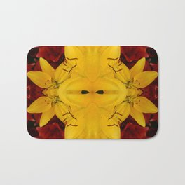 """A Gathering of Lilies"" Remix - 2 (3-1) [D4466~24] Bath Mat"
