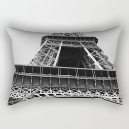 Eiffel Tower // Looking up at the World's Most Famous Monument in Paris France Classic Photograph Rectangular Pillow
