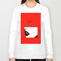 lip Long Sleeve T-shirts featuring Lip King by Keith Cameron