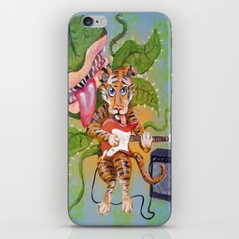 Guitar Playing Tiger with Audrey iPhone Skin