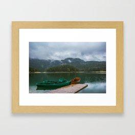 Black Lake Framed Art Print