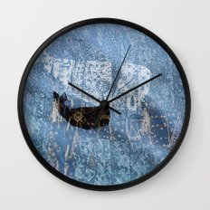 whale and spirit Wall Clock
