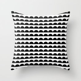 BREE ((black on white)) Throw Pillow