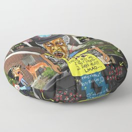 Uncle Freeloaders Life Story Remixed Floor Pillow