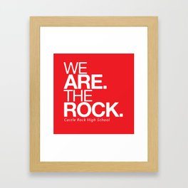 WE ARE THE ROCK Framed Art Print