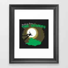 Greetings From the Sewers Framed Art Print