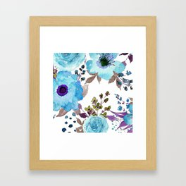 Blue Bohemian Large Print Framed Art Print
