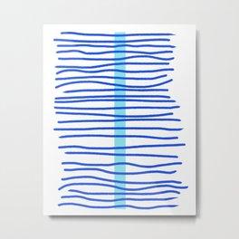 Stacked Waves Metal Print