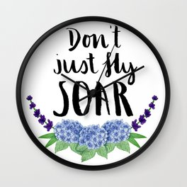 #KinaTurns24: Don't Just Fly Soar Wall Clock