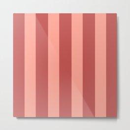 Dusty Rose Stripes Metal Print