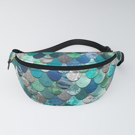 Mermaid Pattern, Sea,Teal, Mint, Aqua, Blue Fanny Pack