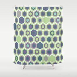Honycomb Art Deco Shower Curtain