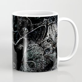 BW Cat Collage Coffee Mug
