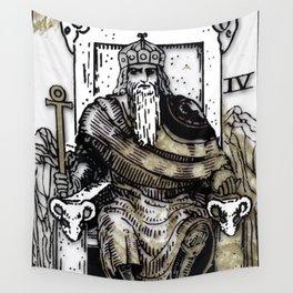 Glamour Tarot The Emperor Wall Tapestry