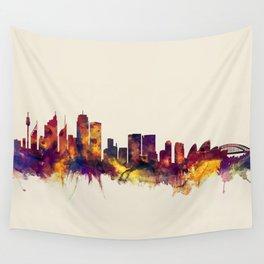 Sydney Australia Skyline Wall Tapestry