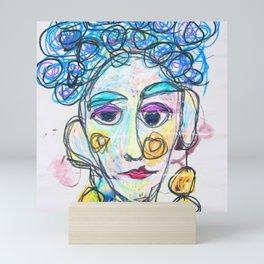 All she heard was blah, blah, blah Mini Art Print