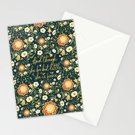 And though she be but little, she is fierce (FFP1) Stationery Cards