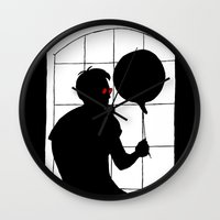 daredevil Wall Clocks featuring Daredevil by Boring Palace