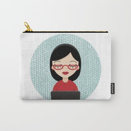 Computergeek woman Carry-All Pouch