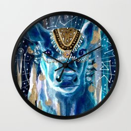 Astral Moon Cow Mandala Wall Clock