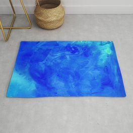 Ice Palace Watercolor Texture Rug