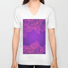 Heat Wave II Abstract Waves Unisex V-Neck