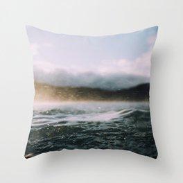 Dark Waves II Throw Pillow