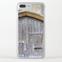 Oxford door 13 Clear iPhone Case